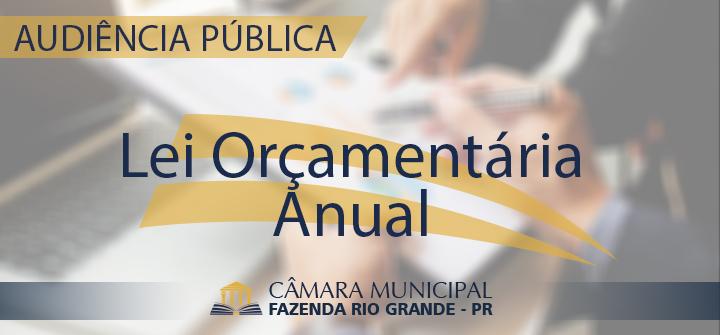 Audiência Pública - Lei Orçamentária Anual