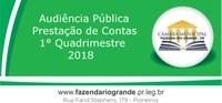 Audiência Pública Prestação de Contas 1° Quadrimestre 2018