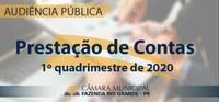 Audiência Pública - Prestação de Contas do 1° Quadrimestre de 2020