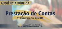 Audiência Pública - Prestação de Contas do 1º Quadrimestre de 2019