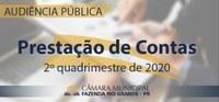 Audiência Pública - Prestação de Contas do 2° Quadrimestre de 2020