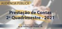 Audiência Pública - Prestação de Contas do 2º Quadrimestre de 2021