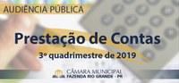 Audiência Pública - Prestação de Contas do 3º Quadrimestre de 2019