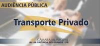 Audiência Pública - Transporte Individual Privado Remunerado