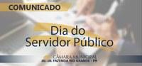 Comunicado - Dia do Servidor Público