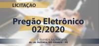 ERRATA - PREGÃO ELETRÔNICO 02/2020