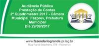 Audiência Pública Prefeitura, Câmara e Fazprev 29/09/2017