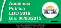 Audiência Pública - LDO 2016 - 06/08/2015