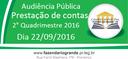 Audiência Pública - Prestação de Contas - 2º Quadrimestre 2016