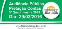 Audiência Pública - Prestação de Contas - 3º Quadrimestre 2015