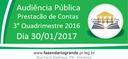 Audiência Pública - Prestação de Contas - 3º Quadrimestre 2016