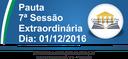 Pauta da 7ª Sessão Ordinária 01/12/2016