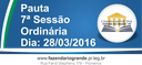 Pauta da 7ª Sessão Ordinária 28/03/2016