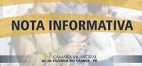 Nota Informativa - Encerramento da 22ª Sessão Ordinária