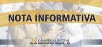 Nota Informativa - Protocolo e Atendimento ao Público