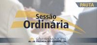 Pauta da 01ª Sessão Ordinária 18/02/2019
