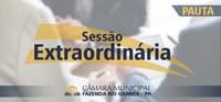 Pauta da 05ª Sessão Extraordinária 14/08/2020