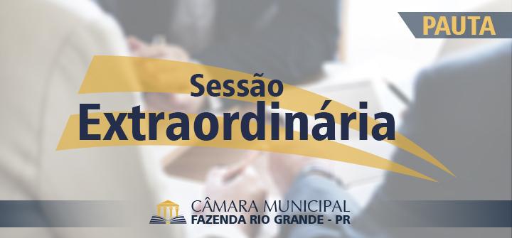 Pauta da 17ª Sessão Extraordinária 16/12/2019
