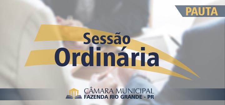 Pauta da 30ª Sessão Ordinária 29/10/2018
