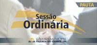 Pauta da 30ª Sessão Ordinária 30/11/2020